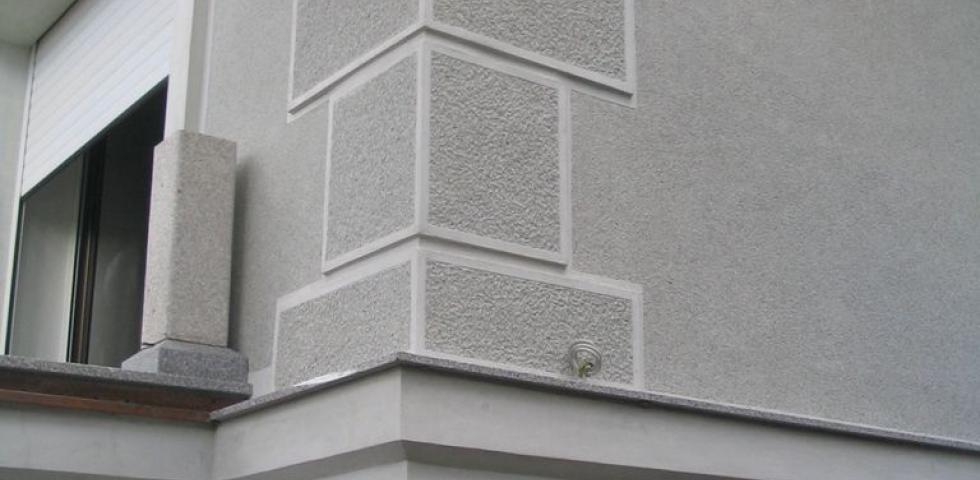Detalj ugaonog pilastera sa površinskom obradom pikovanjem