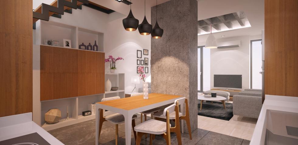 3d model - kuhinja, trpezarija